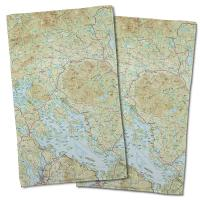 NH: Lake Winnipesaukee, NH Nautical Topo Map Hand Towel (Set of 2)