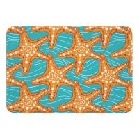 Starfish in Waves Memory Foam Bath Mat