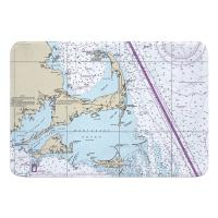 MA: Cape Cod, Martha's Vineyard, Nantucket, MA Nautical Chart Memory Foam Bath Mat