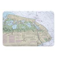 NJ: Wildwood, Cape May, NJ Nautical Chart Memory Foam Bath Mat
