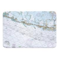 FL: Upper Matecumbe, Islamorada, Key Largo, FL Nautical Chart Memory Foam Bath Mat