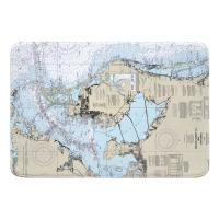 FL: Tampa Bay and St Joseph Sound, FL Nautical Chart Memory Foam Bath Mat