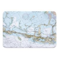 FL: Key Largo, FL Nautical Chart Memory Foam Bath Mat