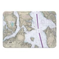 WA: Puget Sound; Seattle to Bremerton, WA Nautical Chart Memory Foam Bath Mat