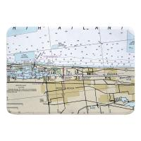 FL: Boynton Beach, FL Nautical Chart Memory Foam Bath Mat