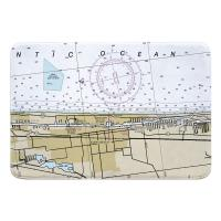 FL: Delray Beach, FL Nautical Chart Memory Foam Bath Mat