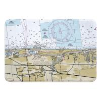 FL: Boca Raton, Deerfield Beach, FL Nautical Chart Memory Foam Bath Mat