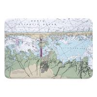 NJ: Surf City, Cedar Bonnet Islands, NJ Nautical Chart Memory Foam Bath Mat