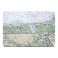 NJ: Corson Inlet, Sea Isle City, NJ Nautical Chart Memory Foam Bath Mat