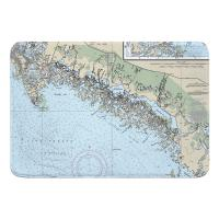 FL: Ten Thousand Islands, FL Nautical Chart Memory Foam Bath Mat