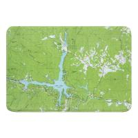 NC: Lake Lure, NC (1982) Topo Map Memory Foam Bath Mat