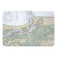FL: Fernandina Beach, Cumberland Sound, FL Nautical Chart Memory Foam Bath Mat
