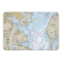 MD: Chesapeake Bay; Approaches to Baltimore Harbor, MD Nautical Chart Memory Foam Bath Mat
