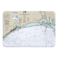 NC: Cape Lookout to New River, NC Nauitcal Chart Memory Foam Bath Mat