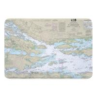 NY: St. Lawrence River; Ironsides, NY to Bingham I., Ont. Nautical Chart Memory Foam Bath Mat