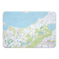 FL: Lake Tohopekaliga, FL (1987) Topo Map Memory Foam Bath Mat
