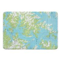 NC: Lake Norman North, NC (1970) Topo Map Memory Foam Bath Mat