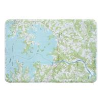 NC: Lake Norman South, NC (1970) Topo Map Memory Foam Bath Mat