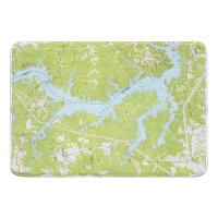 SC: Lake Wylie, SC (1973) Topo Map Memory Foam Bath Mat