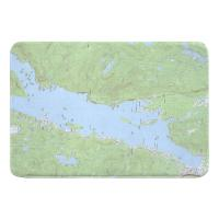 NY: Lake George, NY (1966) Topo Map Memory Foam Bath Mat