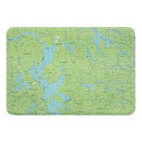 ME: Moosehead Lake, ME (1985) Topo Map Memory Foam Bath Mat