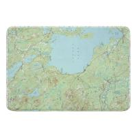 ME: Sebago Lake, ME (1942) Topo Map Memory Foam Bath Mat