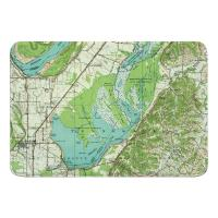 TN: Reelfoot Lake, TN (1956) Topo Map Memory Foam Bath Mat