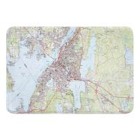 MA: Fall River, MA (1985) Topo Map Memory Foam Bath Mat