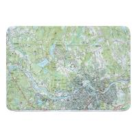 MA: Lowell, MA (1987) Topo Map Memory Foam Bath Mat