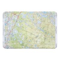 MA: Carver, Plymouth, Wareham, MA (1972) Topo Map Memory Foam Bath Mat