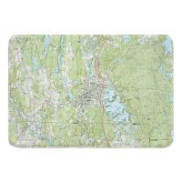 MA: Webster, MA (1982) Topo Map Memory Foam Bath Mat