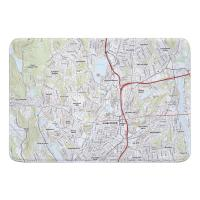MA: Worcester North, MA Topo Map Memory Foam Bath Mat