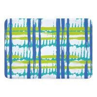 Coastal Grid Memory Foam Bath Mat