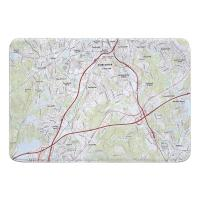 MA: Worcester South, MA Topo Map Memory Foam Bath Mat