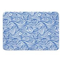 Dreamy Sea Blue Memory Foam Bath Mat