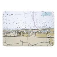 FL: Highland Beach, FL Nautical Chart Memory Foam Bath Mat