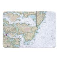 NH: Portsmouth Harbor, NH Nautical Chart Memory Foam Bath Mat