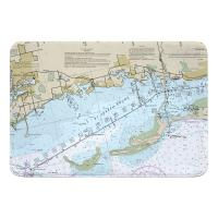 FL: Crystal Beach, Honeymoon Island, FL Nautical Chart Memory Foam Bath Mat