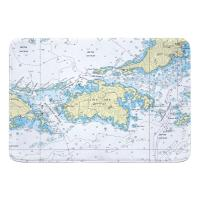 Saint John, USVI Nautical Chart Memory Foam Bath Mat