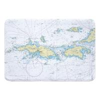 Saint Thomas, Saint John, USVI Nautical Chart Memory Foam Bath Mat