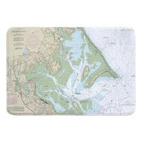 MA: Duxbury Bay, Kingston Bay, MA Nautical Chart Memory Foam Bath Mat
