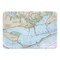 FL: Apalachicola Bay, FL Nautical Chart Memory Foam Bath Mat