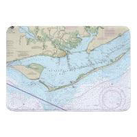 FL: Apalachicola Bay, FL II Nautical Chart Memory Foam Bath Mat
