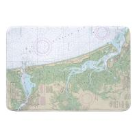 MA: Newburyport Harbor & Plum Island Sound, MA Nautical Chart Memory Foam Bath Mat