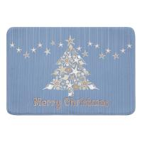 Seashell Christmas Tree Memory Foam Bath Mat