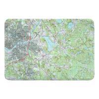 MA: North Andover, MA Topo Map Memory Foam Bath Mat
