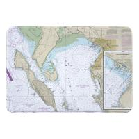 WA: Bellingham Bay, WA Nautical Chart Memory Foam Bath Mat