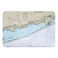 NY: Great South Bay, Fire Island, NY Nautical Chart Memory Foam Bath Mat
