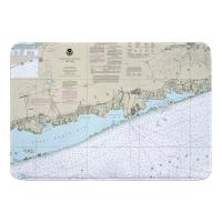 NY: Great South Bay to Moriches Bay, NY Nautical Chart Memory Foam Bath Mat