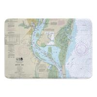 SC: Winyah Bay, SC Nautical Chart Memory Foam Bath Mat